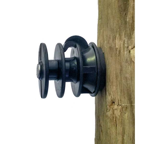 ELFIN 241 Electric Fence Insulator with Nail for Wood Posts