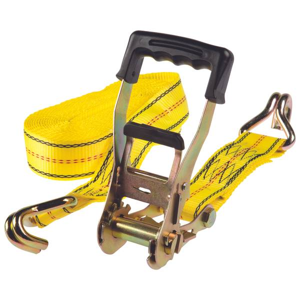 Heavy Duty Large Bar Handle Ratchet Tie Down with Double J Hooks