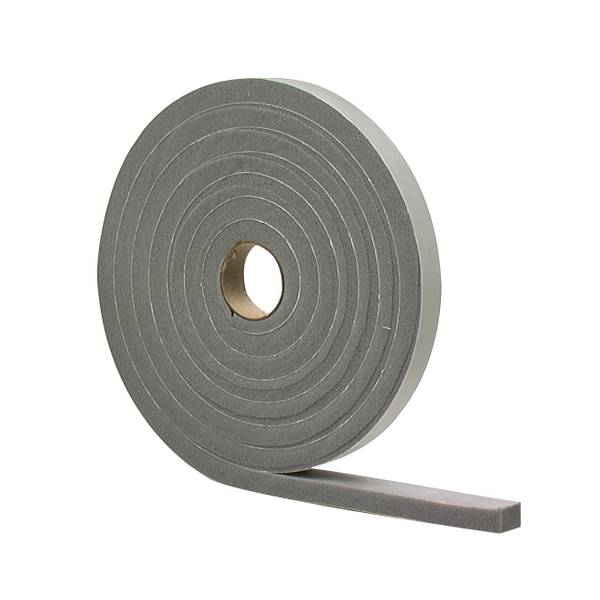 Gray High Density Foam Tape Weatherstrip - Closed Cell