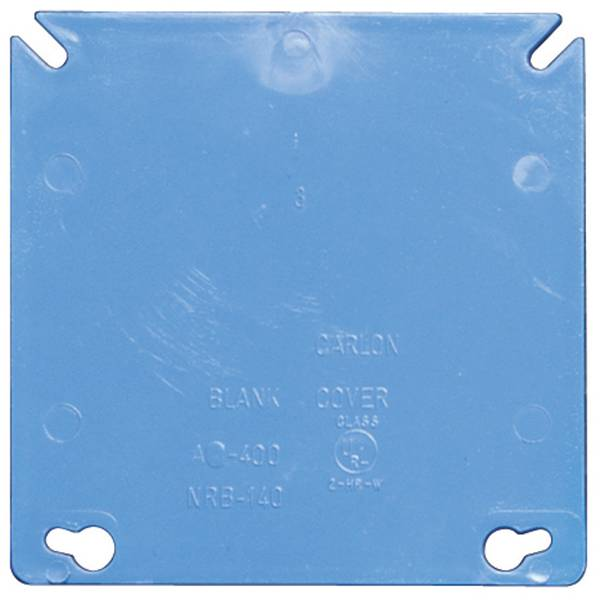 """4"""" PVC Square Blank Cover"""