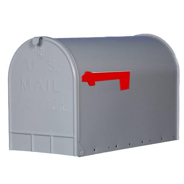 Gibraltar Elite Gray Extra Large Galvanized Steel Mailbox