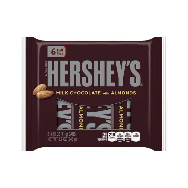6-Pack Almond Candy Bars