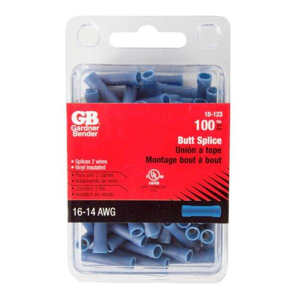 16 - 14 Gauge Blue Butt Splices