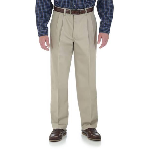 Men's Khaki Performance Casual Pants