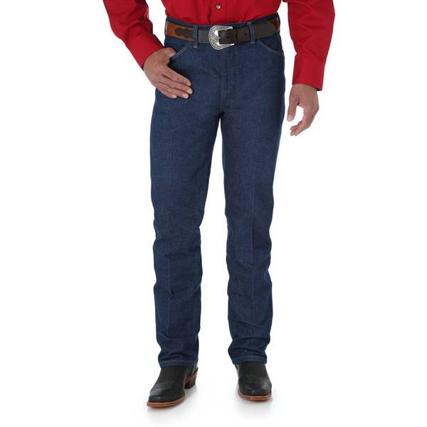 Men's Rigid Indigo Cowboy Cut Slim Fit Jeans