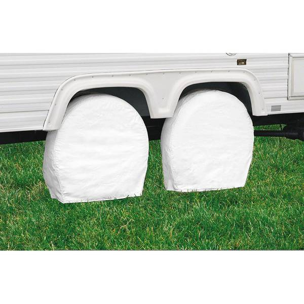 76250 OverDrive RV Wheel Covers, Snow White, Model 3