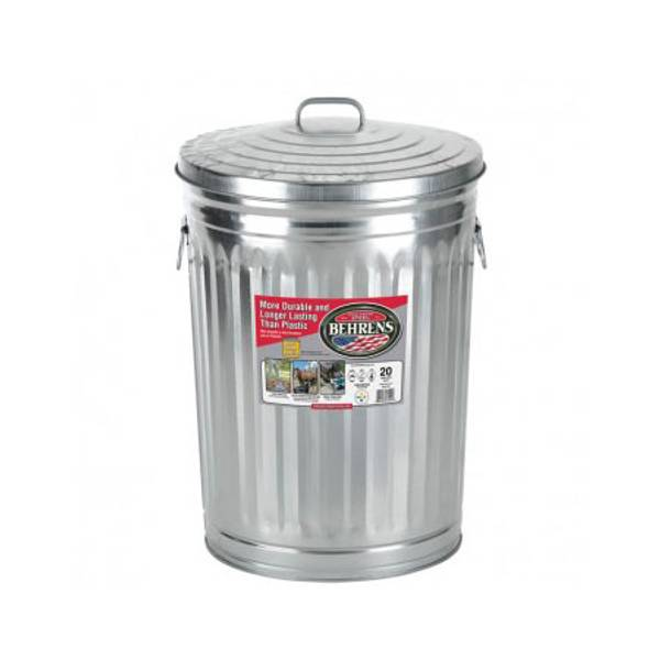 galvanized trash can behrens galvanized garbage can 28544
