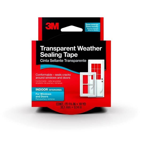 Interior Transparent Weather Sealing Tape