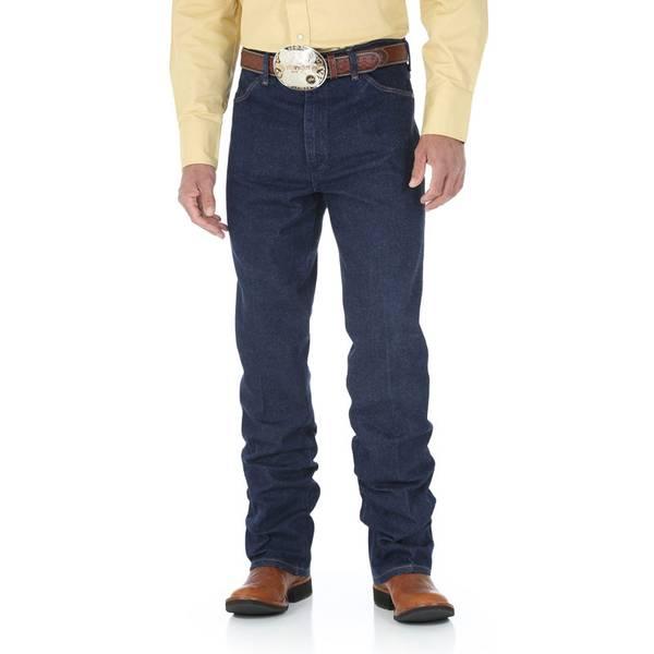 Men's Navy Cowboy Cut Stretch Slim Fit Jeans