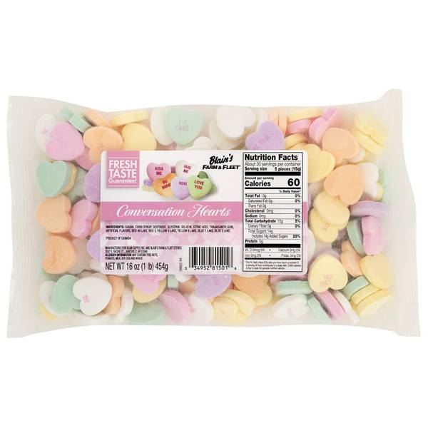 Large Conversation Hearts Candy