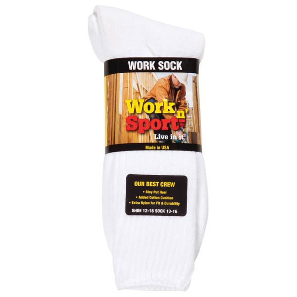 Men's 3-Pack Crew Work Socks