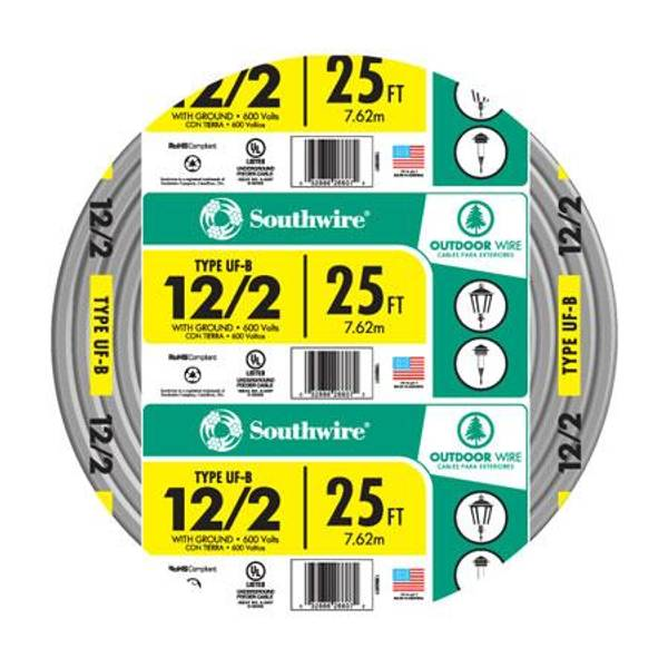 Southwire UF-B 12/2 Outdoor Electrical Wire with Ground