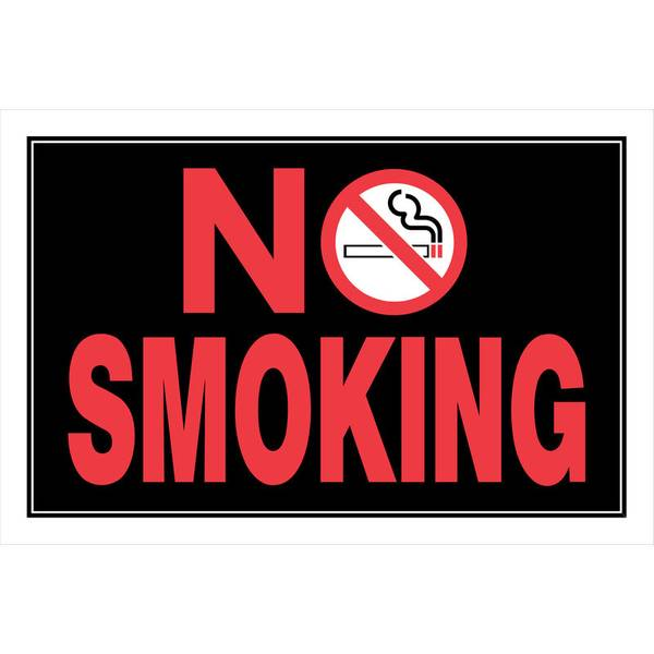 "8"" x 12"" No Smoking Sign"