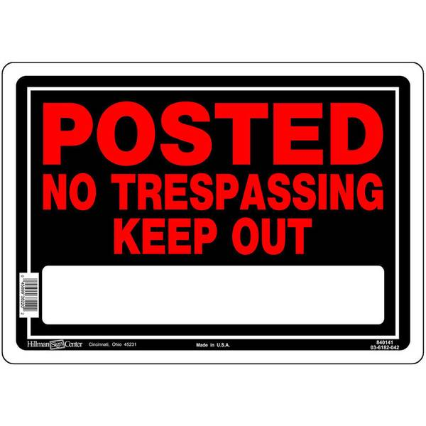 """10"""" x 14"""" Aluminum Posted Keep Out Sign"""