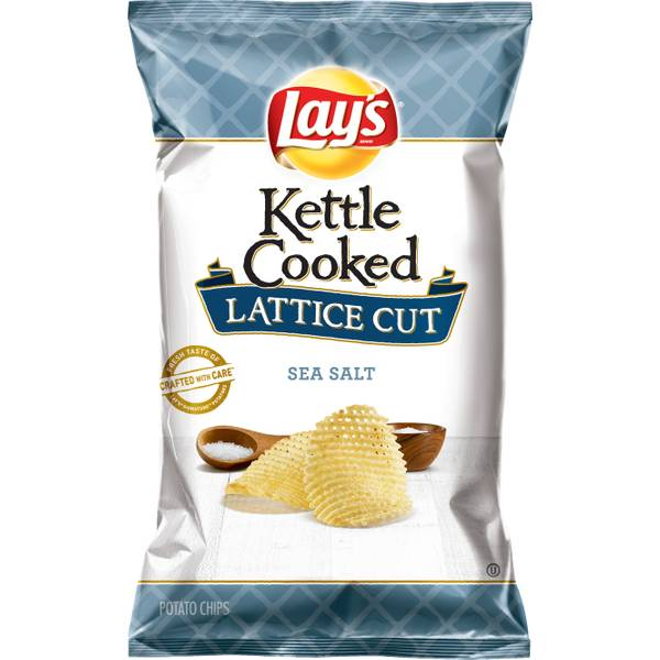 Kettle Cooked Lattice Cut Sea Salt Chips