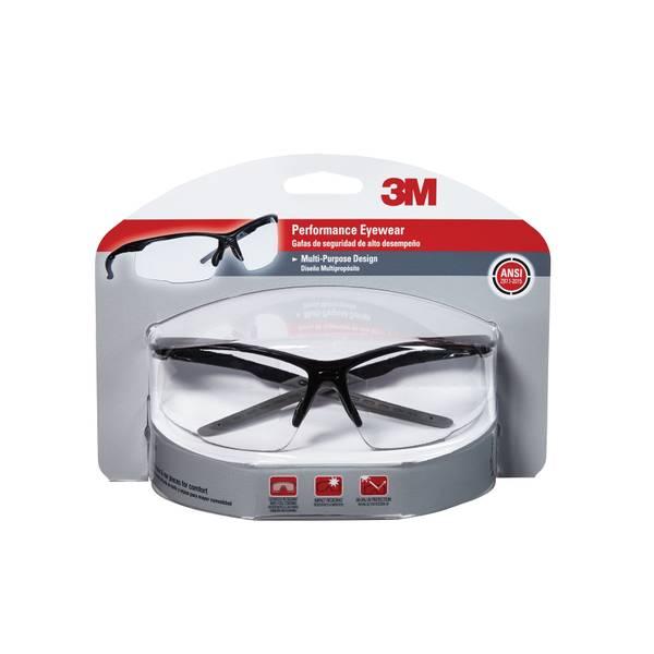 Black Multi-Purpose Design Performance Eyewear With Clear Lens