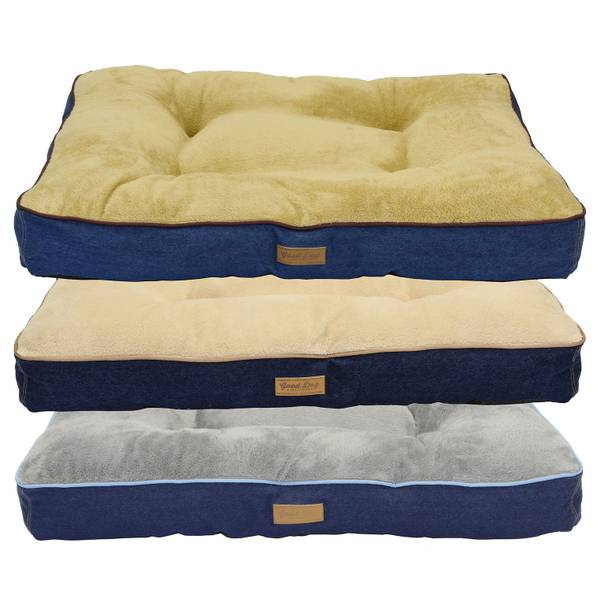 Tufted Good Dog Denim Gusset Bed