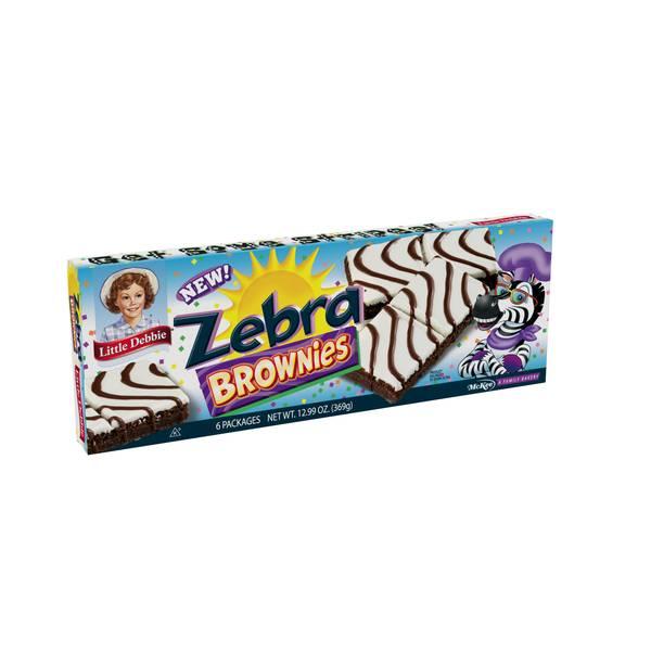 Zebra Brownies