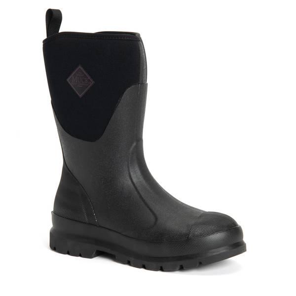 "THE ORIGINAL MUCK BOOT CO CHM-000A//15 Boots,Size 15,12/"" Height,Black,Plain,PR"