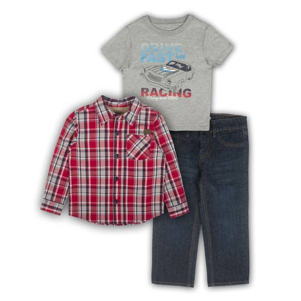 Baby Boys' Shirts & Jean Set
