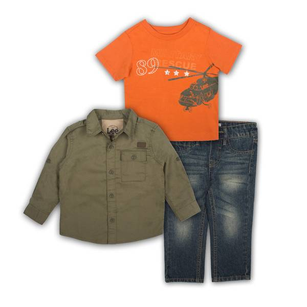 Baby Boys' 3-Piece Shirts & Jean Set
