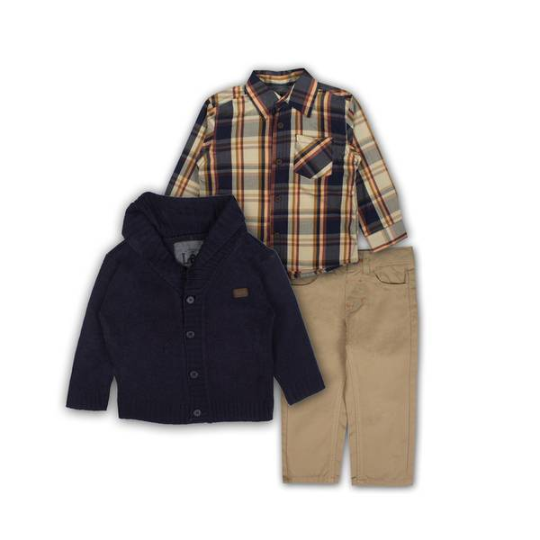 Toddler Boys' 3-Piece Twill Pants Set