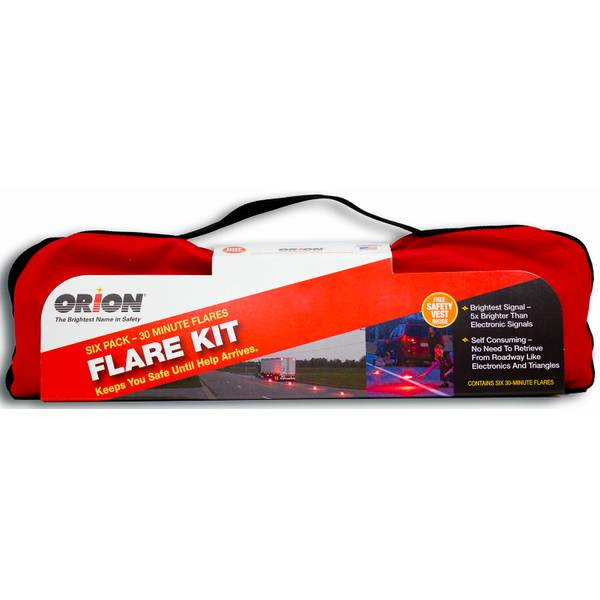 30-Minute Emergency Flare Kit - 6 Pack