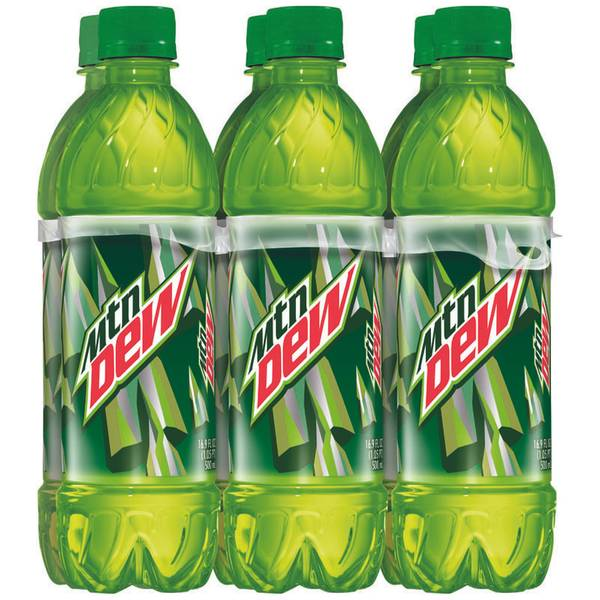 16.9 oz Mountain Dew - 6 Pack