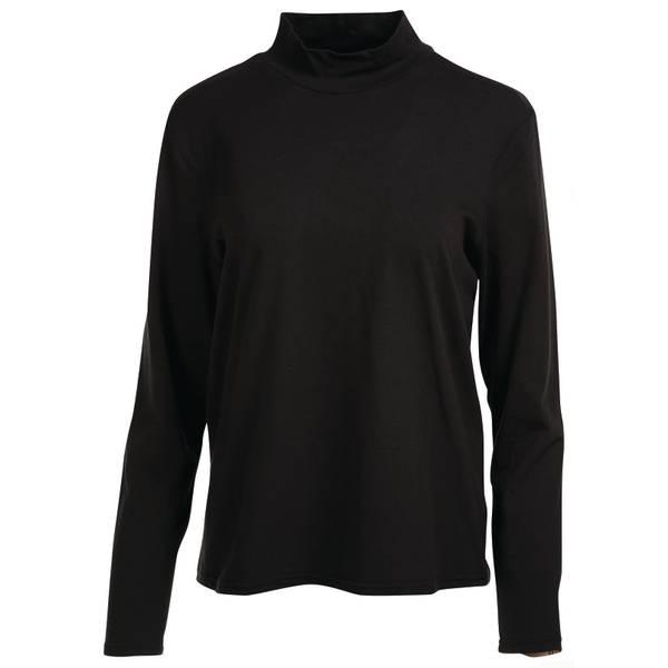 Misses Long Sleeve Mock Neck Shirt