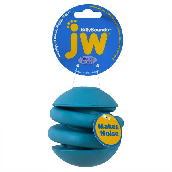 JW Sillysounds Spring Ball Dog Toy