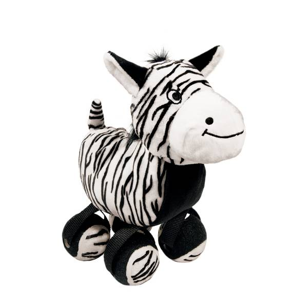 Tennis Shoes Zebra Dog Toy