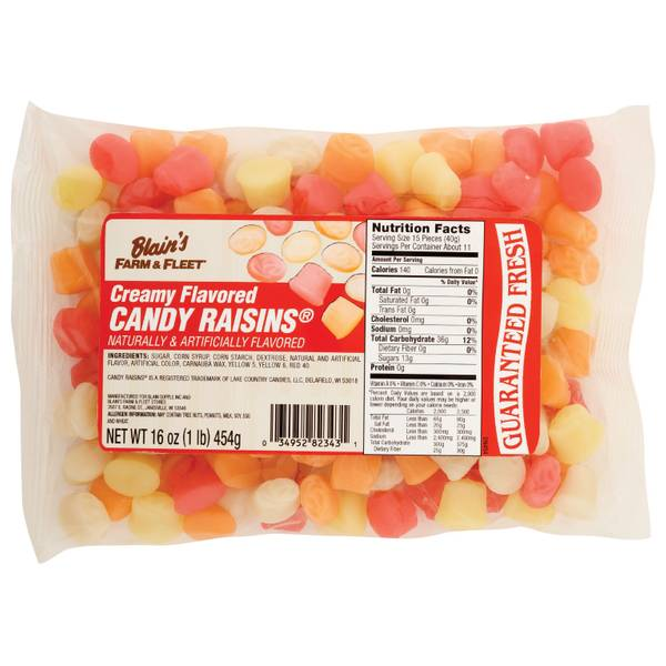 Creamy Flavored Candy Raisins