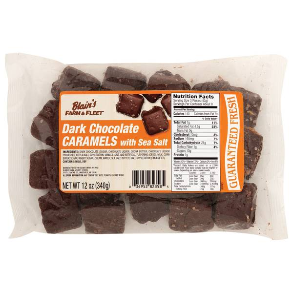 Dark Chocolate Caramels with Sea Salt