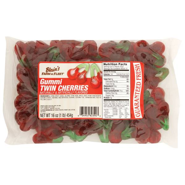 Gummi Twin Cherries
