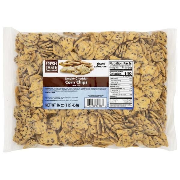 16 oz Smoked Flax Chips