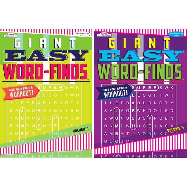 Giant Easy Word Find Book Assortment