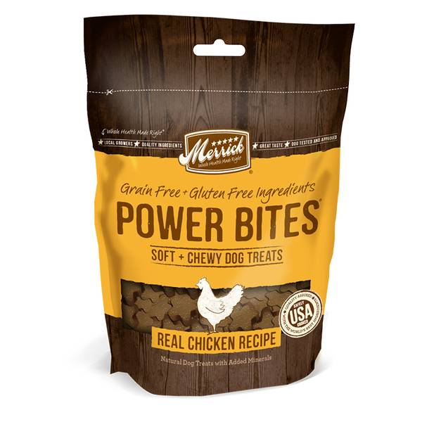 6 oz Power Bites Chewy Chicken Dog Treats