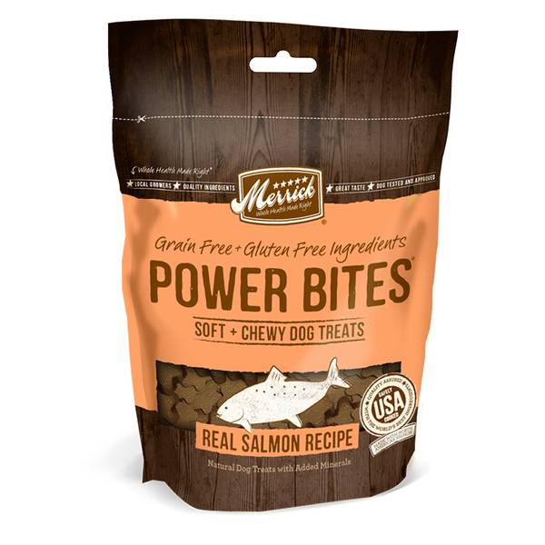 6 oz Power Bites Chewy Salmon Dog Treats