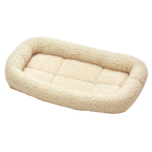 Cream Fleece Dog Bed