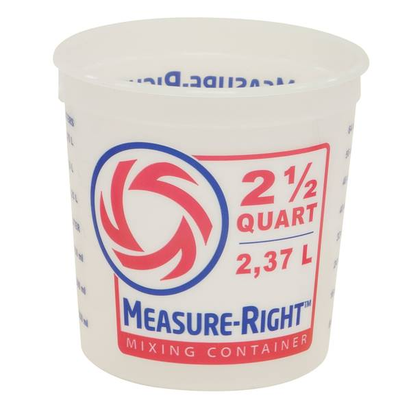 2.5 Quart Measure Right Container No Handle