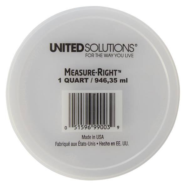 1 Quart Measure-Right Lid