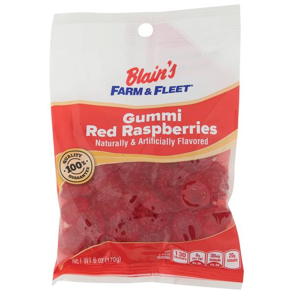 Gummi Red Raspberries Grab N' Go Bag