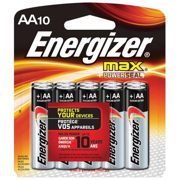 Energizer Max Aa Alkaline Batteries E91cp 10 Blain S Farm Fleet
