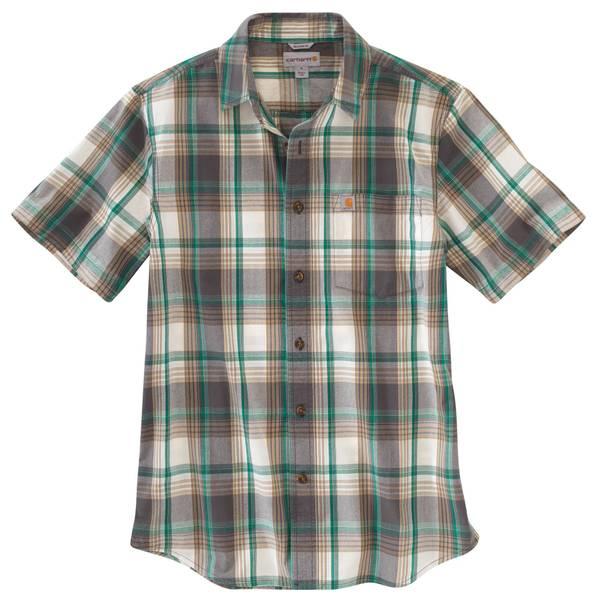 Men's Essential Plaid Open Collar Short Sleeve Shirt