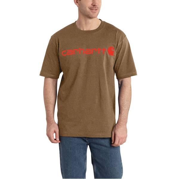 Big Men's Barrel Heather Signature Logo T-Shirt