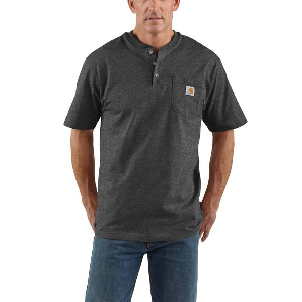 Men's Short Sleeve Workwear Pocket Henley