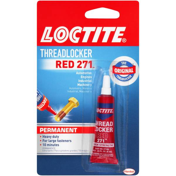 Threadlocker Red Heavy Duty Adhesive