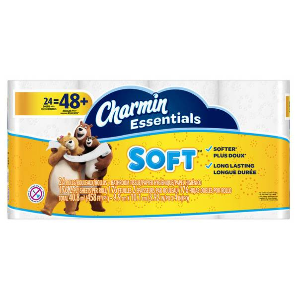 Essentials Soft Double Roll - 24 Pack