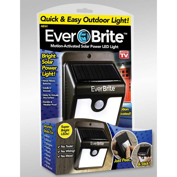As Seen On Tv Ever Brite Motion Activated Solar Power Led