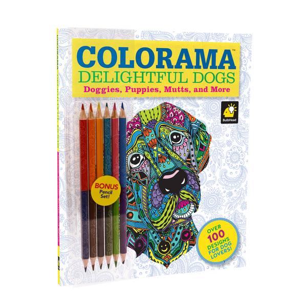 Colorama Delightful Dogs Color Book